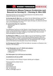Einladung zur Massey Ferguson Kundenreise nach Beauvais am ...
