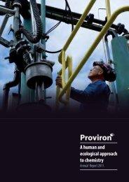 Annual Report 2011 (English - pdf 2 MB) - Proviron