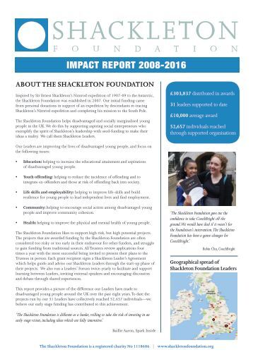 Shackleton Foundation Impact Report 2016 final