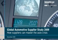 How suppliers can master the auto crisis - Roland Berger