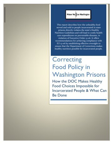 Correcting Food Policy in Washington Prisons
