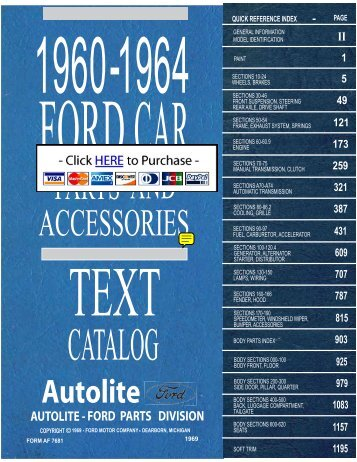 DEMO - 1960-64 Ford Car Master Parts and ... - MRE Books