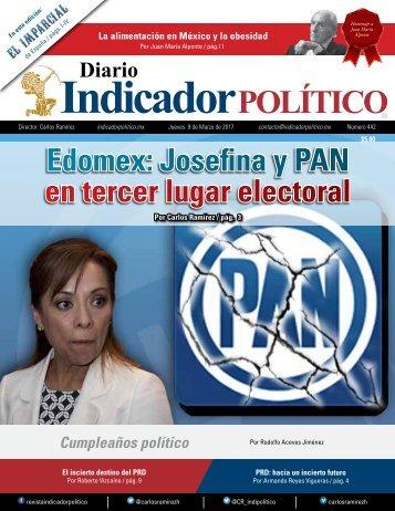 Edomex Josefina y PAN en tercer lugar electoral