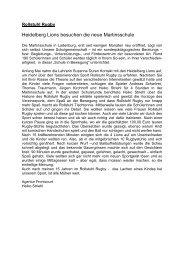 Rollstuhl Rugby Bericht - Frontcourt