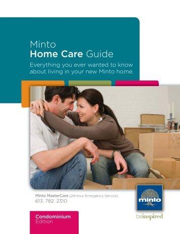 Download the Minto Home Care Guide - Condo