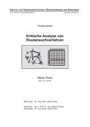 Kritische Analyse von Routensuchverfahren - martinrose