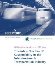 Towards a New Era of Sustainability in the Infrastructure ...