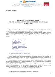 id618_Raportul administratorilor 2008.pdf - Actionariat OIL-Terminal