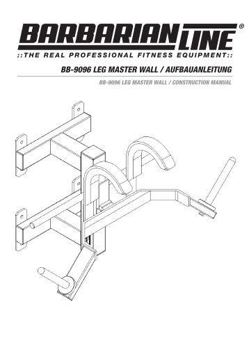 bb-9096 leg master wall / aufbauanleitung - Megafitness-Shop