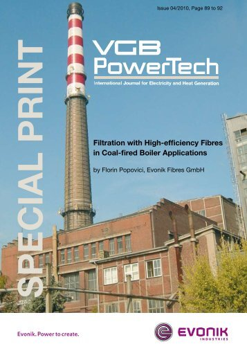 Filtration with High-efficiency Fibres in Coal-fired Boiler ... - P84.com