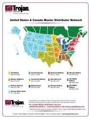 United States & Canada Master Distributor Network - Trojan Battery ...
