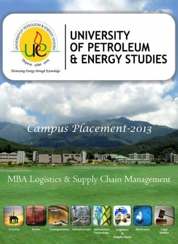 MBA Logistics & Supply Chain Management Campus ... - Upes