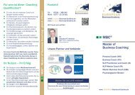 MBC ® Master of Business Coaching - European Business Ecademy