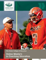 Online Master's in Coaching Education