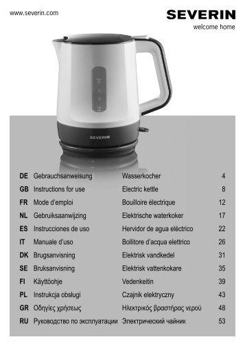 Severin WK 3389 Bouilloire électrique »START« - Istruzioni d'uso