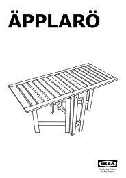 Ikea ÄPPLARÖ tavolo/4 sedie pieghevoli, giardino - S89219241 - Istruzioni di montaggio
