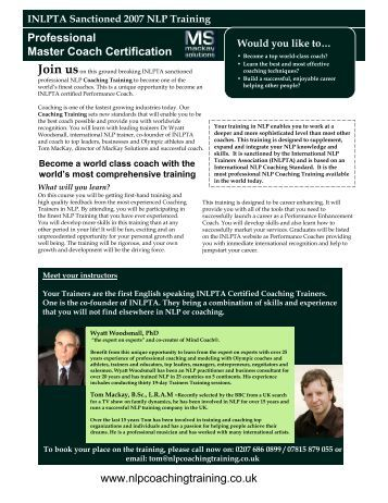 nlp practitioner training manual pdf