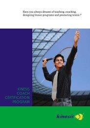 kinesis coach certification program - Kinesis Tennis Training ...