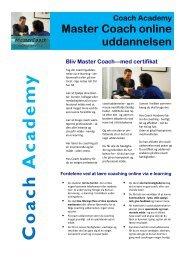 Klik her for at downloade brochuren - Coach Academy