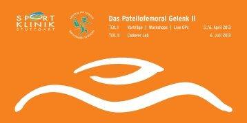 Das Patellofemoral Gelenk II - Sportklinik-Stuttgart