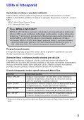 Sony MHS-PM5K - MHS-PM5K Consignes d'utilisation Slovaque - Page 5