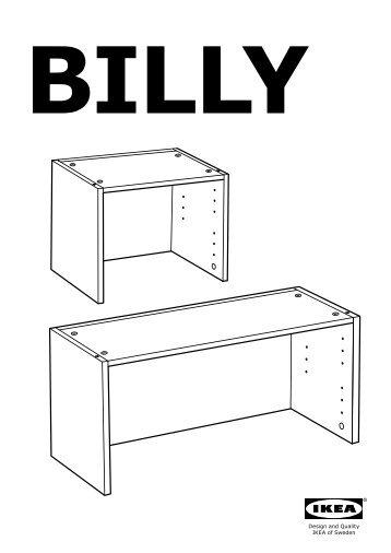 Manuale istruzioni di montaggio montiamo insieme il for Ikea billy angolare