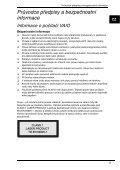 Sony VGN-P29VN - VGN-P29VN Documents de garantie Tchèque - Page 5