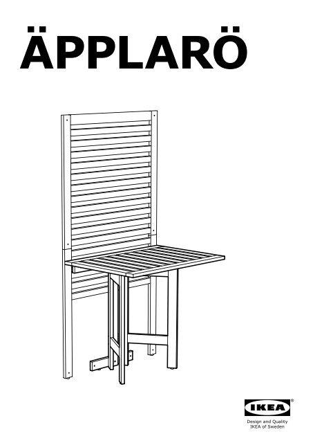 Tavolo A Ribalta Da Parete Ikea.Ikea Amp Auml Pplar Amp Ouml Tavolo A Ribalta Parete Da Esterno