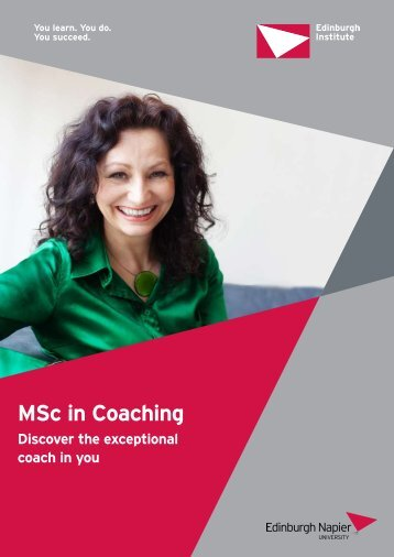 MSc in Coaching - Edinburgh Napier University