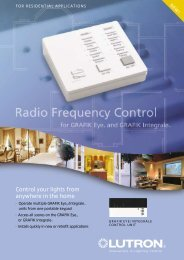 Control your lights from anywhere in the home - Lutron Electronics