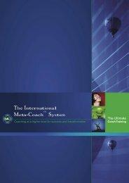 The International Meta-Coach System - CoachAkademiet