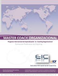 master coach organizacional - Escuela Internacional de Coaching