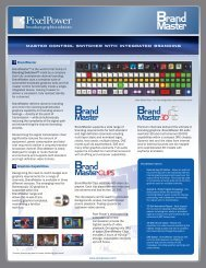 mASTER CONTROl SwiTChER wiTh iNTEGRATED ... - Pixel Power