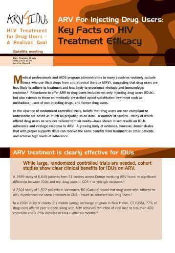 Key Facts on HIV Treatment Efficacy - Open Society Foundations