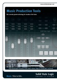 Music Production Tools Brochure - Solid State Logic