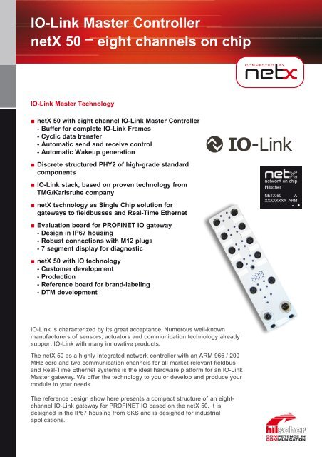 IO-Link Master Controller netX 50 – eight channels on chip