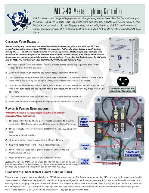 240 Volt Wiring >> Mlc 4x Master Lighting Controller Planet Natural