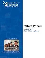 White Paper: 21 CFR Part 11 Risk of - Paciv.com