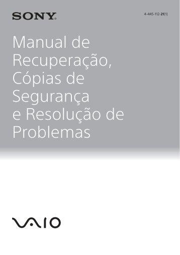 Sony SVT1312V1E - SVT1312V1E Guida alla risoluzione dei problemi Portoghese