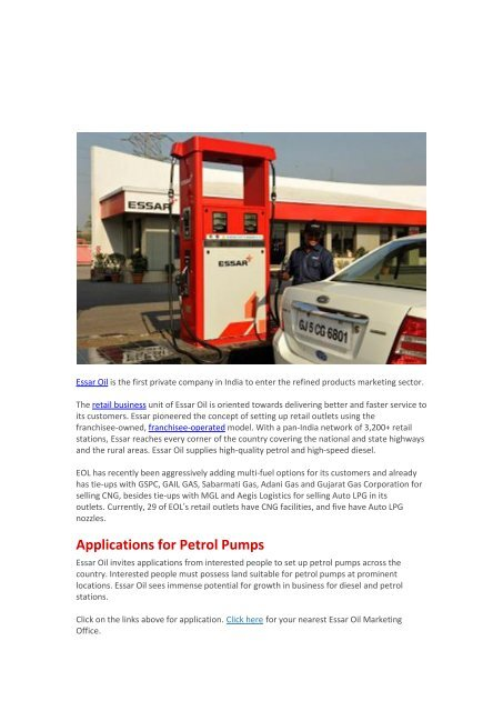 Nearest Diesel Gas Station >> Retail Business Essar Oil