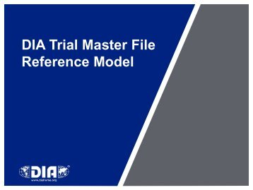 DIA Trial Master File Reference Model - TMF Reference Model