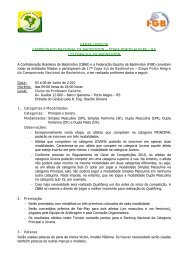 CARTA CONVITE CAMPEONATO NACIONAL DE BADMINTON ...
