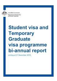 Temporary Graduate visa programme bi-annual report