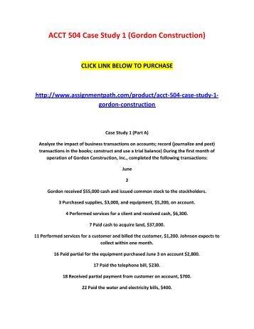 Acct 504 week 6 case study 3 cash budgeting lbj company acct 504 case study 1 gordon construction fandeluxe Images