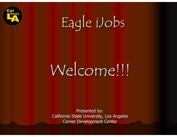 Eagle iJobs - California State University, Los Angeles