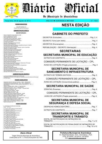 Diário Oficial - Prefeitura de Ananindeua