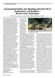 Auslandsaktivitäten der Metallgesellschaft AG in ... - RDB eV