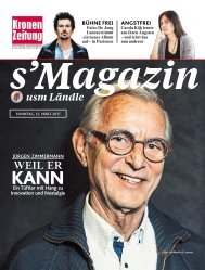 s'Magazin usm Ländle, 12. März 2017