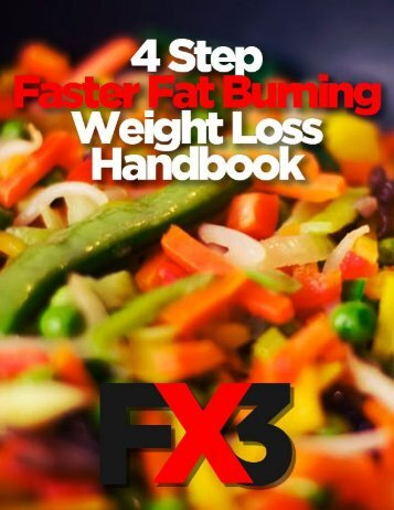 4 Step Faster Fat Burning Weight Loss Handbook