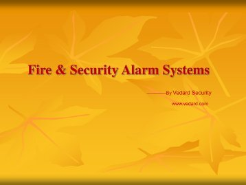 Fire & Security Alarm Systems